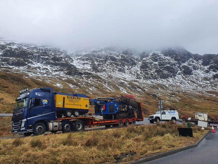 Image for Drilling a borehole for a private water supply in Scotland, by Raeburn Waterwells Drilling and Pumps Supplies.